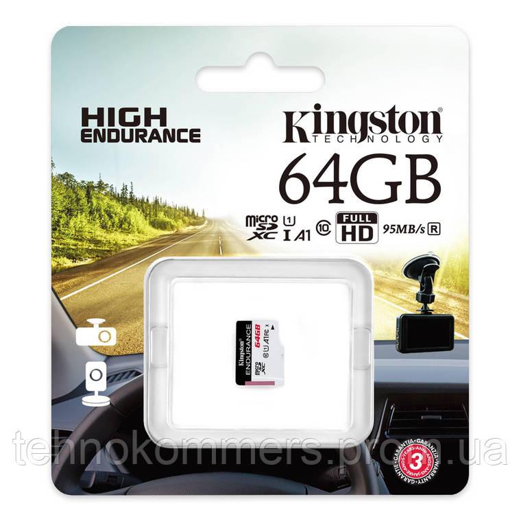 Карта пам'яті Kingston microSDXC 64GB Class 10 UHS-I (U1) A1 W-30MB/s R-95MB/s Без адаптера, фото 2