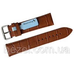 Ремінець для годинника з шкіри Mustang Standart 18 мм, сталева бакля