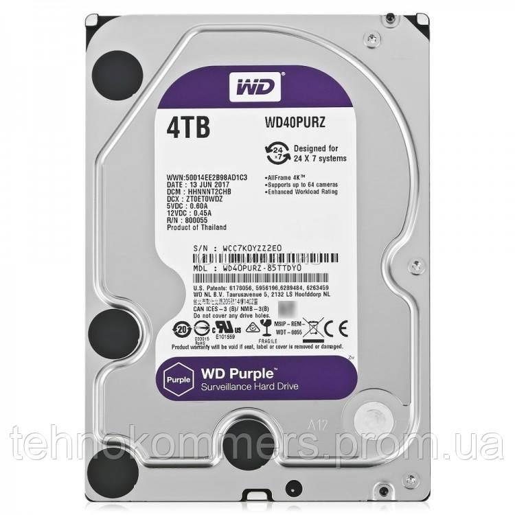 """Дисковий накопичувач внутрішній Western Digital Western Digital 3.5"""" Purple 4TB 3,5"""" SATAIII 5400 об/хв, фото 2"""