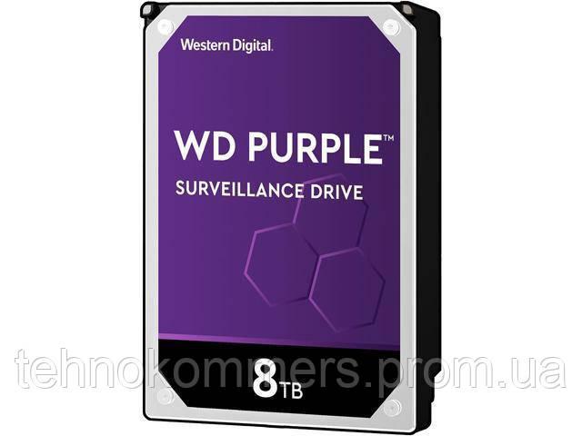 """Дисковий накопичувач внутрішній Western Digital Western Digital 3.5"""" Purple 8ТВ 3,5"""" SATAIII 5400 об/хв"""