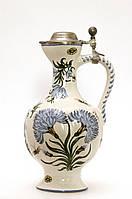 Старый коллекционный кувшин, керамика, Германия, ручная роспись