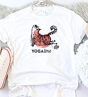 Жіноча футболка Yoga-cat, фото 1