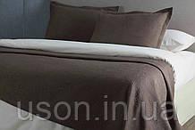 Покрывало хлопковое жаккардовое Pavia Ida 230*250 серый/коричневый