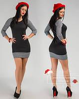 Красивое стильное короткое платье. Арт-3855/31.