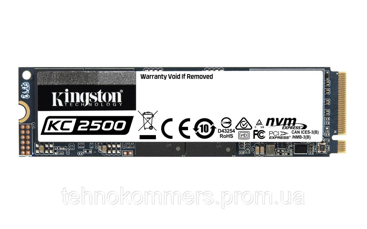 Накопичувач SSD Kingston KC2500 2048GB M. 2 PCI Express 3.0x4 3D NAND TLC