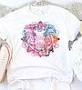 Женская футболка Сolorful elephant