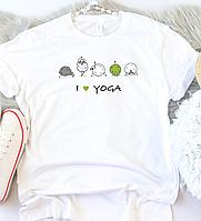 Жіноча футболка I ❤ yoga, фото 1