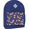 Женский городской рюкзак синий молодежный на 17 л.  рюкзак на каждый день среднего размера девушке