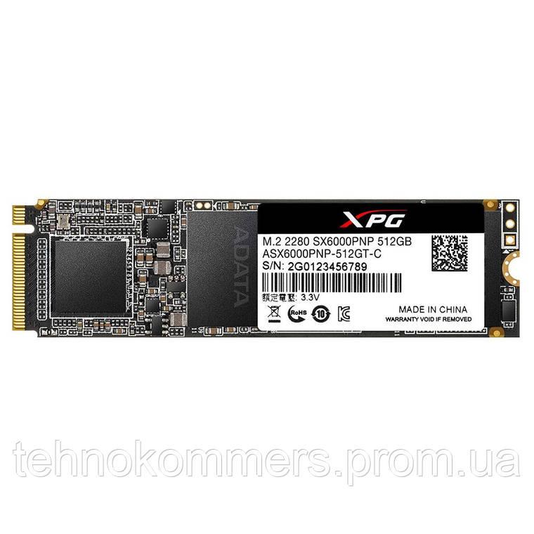 Накопичувач SSD A-DATA XPG SX6000 Pro 512GB M. 2 PCI Express 3.0x4 3D NAND TLC, фото 2