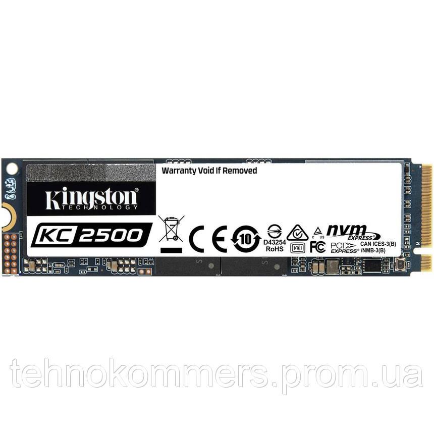 Накопичувач SSD Kingston KC2500 1024GB M.2 PCI Express 3.0x4 3D NAND TLC, фото 2