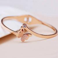 Женский браслет из ювелирной стали с бабочкой New