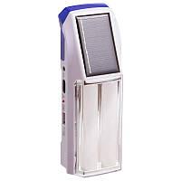 Ліхтар на сонячній батареї світлодіодний переносний для кемпінгу HONG SHENG Білий-синій (SW208)