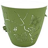 Набор горшков для цветов Бабочки 3D 2,5 л / 5 шт тёмно-зелёный Турция, фото 2