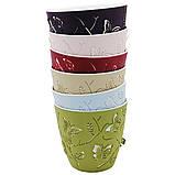 Набор горшков для цветов Бабочки 3D 2,5 л / 5 шт тёмно-зелёный Турция, фото 10