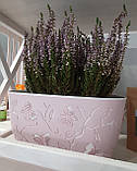 Горщик для квітів балконний 3D 4,1 л бежевий, фото 7