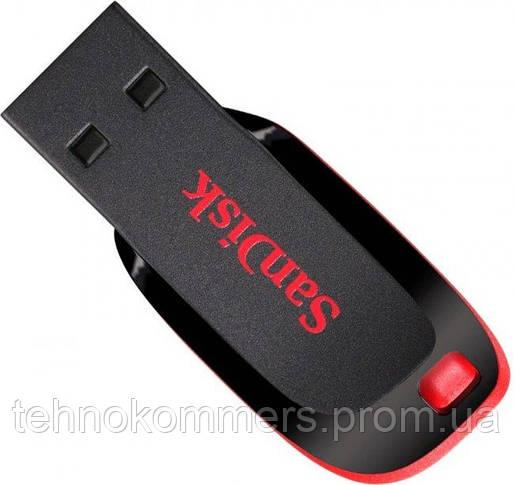 Флеш-накопичувач SanDisk USB2.0 Cruzer Blade 16GB Black-Red, фото 3