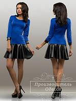 Красивое стильное короткое платье. Арт-3856/31.