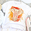 Женская футболка Orange elephant