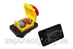 Кнопка для бетономішалки DZ-6-2 з рамкою і кришкою 88*56 4 контактів