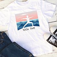 """Мужская футболка """"Yoga time"""", фото 1"""