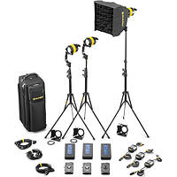 Dedolight DLED4.1-BI Bi-Color LED 3-Light Battery Kit (Battery Operation) (SLED3-BI-BAT)