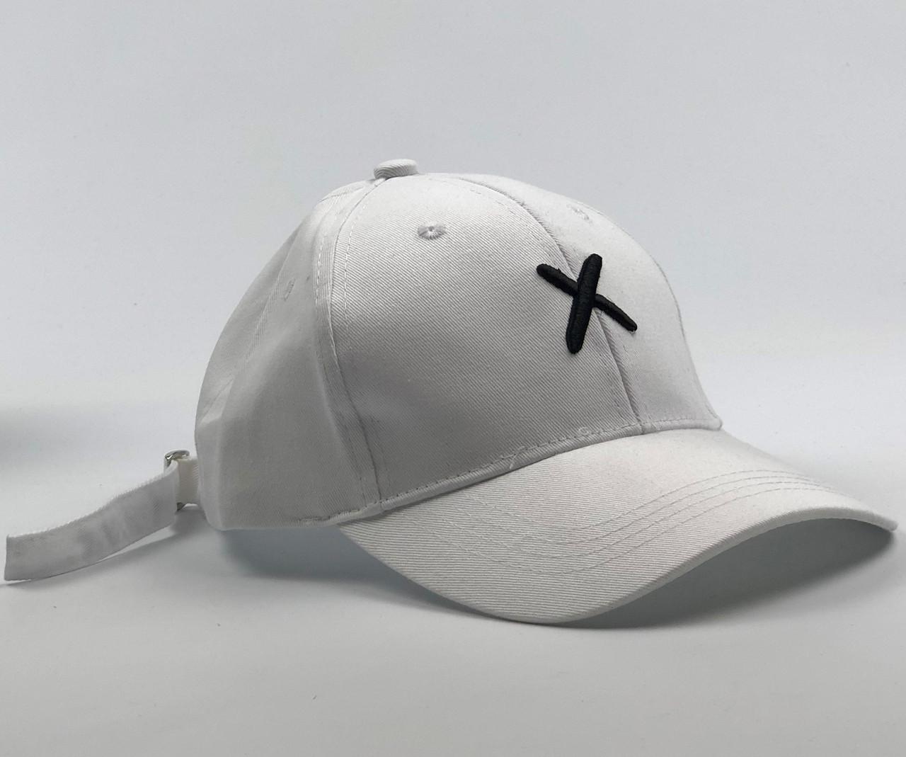 Кепка Бейсболка Жіноча City-A з написом Xotic X Біла