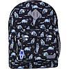 Рюкзак городской женский  черный с ярким принтом 17 л. на каждый день городской рюкзак, модный рюкзак