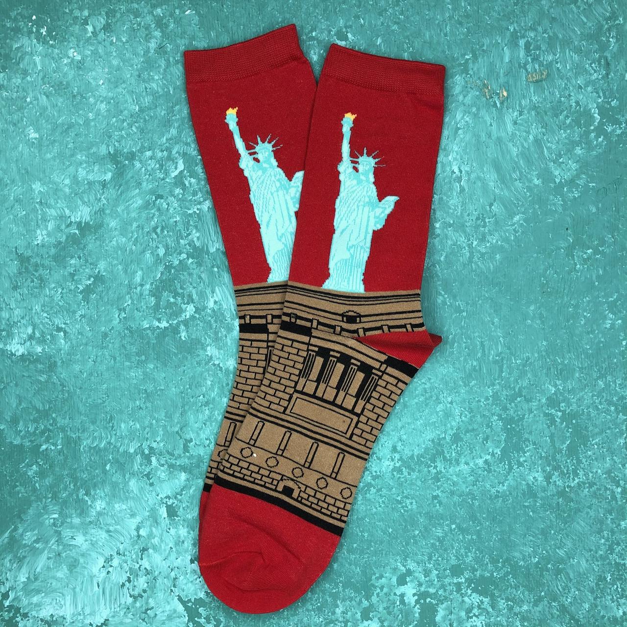 Шкарпетки Високі Жіночі Чоловічі City-A Our Tanks Картини Статуя Свободи