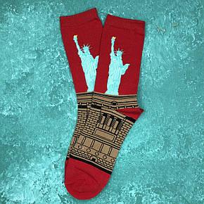 Шкарпетки Високі Жіночі Чоловічі City-A Our Tanks Картини Статуя Свободи, фото 2