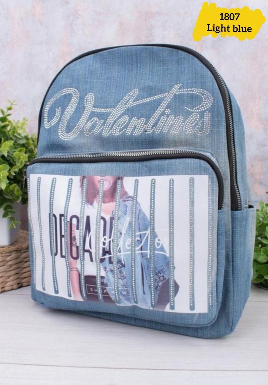 Жіночий джинсовий рюкзак