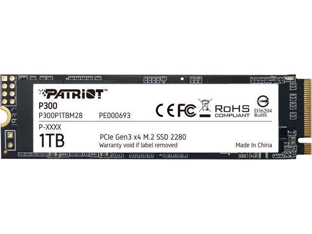 Накопичувач SSD Patriot P300 1024GB M. 2 2280 PCI Express 3.0x4 3D NAND TLC