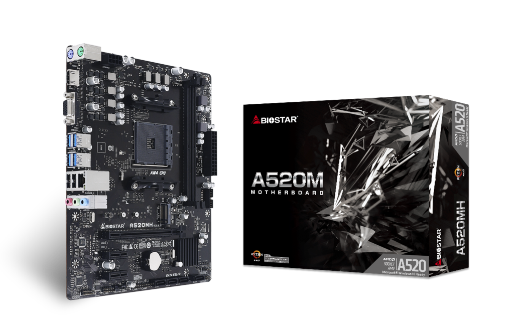 Материнська плата Biostar A520 (sAM4, AMD A520, PCI-Ex16)
