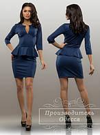 Красивое стильное платье с баской. Арт-3859/31.