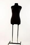 Манекн брючний кравецький чорний модель Любов, 48 розмір, фото 3