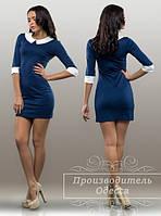 Красивое стильное платье с воротом и манжетами. Арт-3860/31.