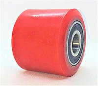 Полиуретановый ролик 80x90 с шариковыми подшипниками
