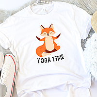Жіноча футболка Yoga time, фото 1