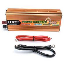 Инвертор преобразователь напряжения UKC 24V-220V 2000W 003256, КОД: 2396165
