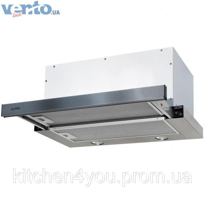 Вбудована, телескопічна кухонна витяжка Ventolux Garda 60 Inox (1000) IT нержавіюча сталь