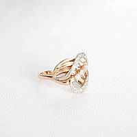 Кольцо золотое с алмазной гранью КП10265А