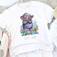 Женская футболка Keep Calm, фото 1