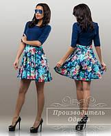 Красивое стильное платье с цветочным принтом. Арт-3861/31.