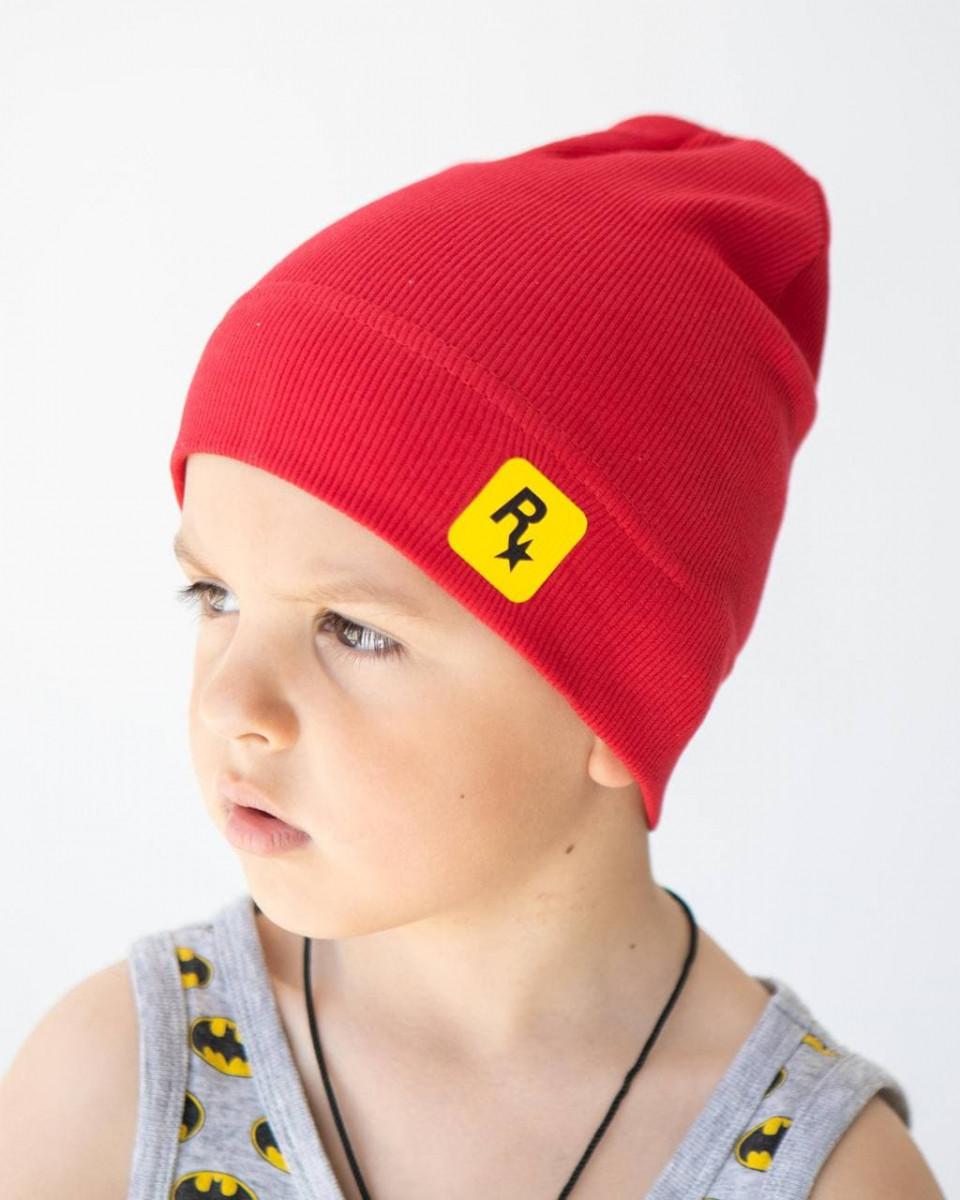 Шапка одношарова на весну-осінь для хлопчика оптом - Артикул 2857