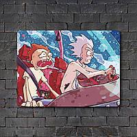 Постер (картина) табличка - Рик и Морти 4