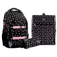 Набір рюкзак + пенал + сумка для взуття  727 Polka Dots Wonder Kite