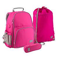 Набір рюкзак + пенал + сумка для взуття 720-1 Smart рожевий, Kite