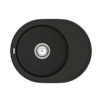 Кухонна мийка Lira LMO 02.57 Black + сифон