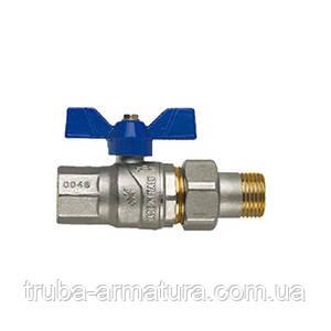 Кран шаровый латунный муфтовый для воды FIV DN 32 PN 25 ВН с американкой