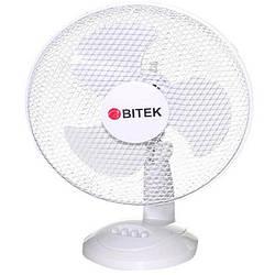 Вентилятор настольный бытовой BITEK диаметр 3 пластиковых лопастей 23см мощность 20Вт.  Витек домашний вентиля