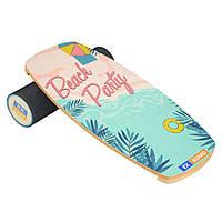 Балансборд Ex-board Beach Party черный валик 13 см в резине (ex61)